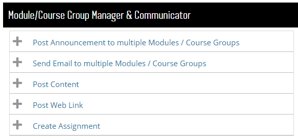 Module course group manager and communicator