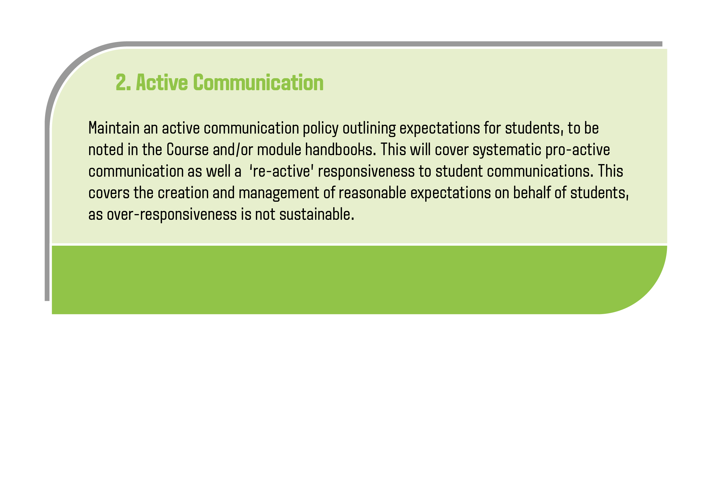 Active communication explanation - please see downloadable document for text version