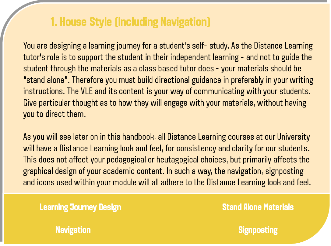 House Style explanation - please see downloadable document for text version