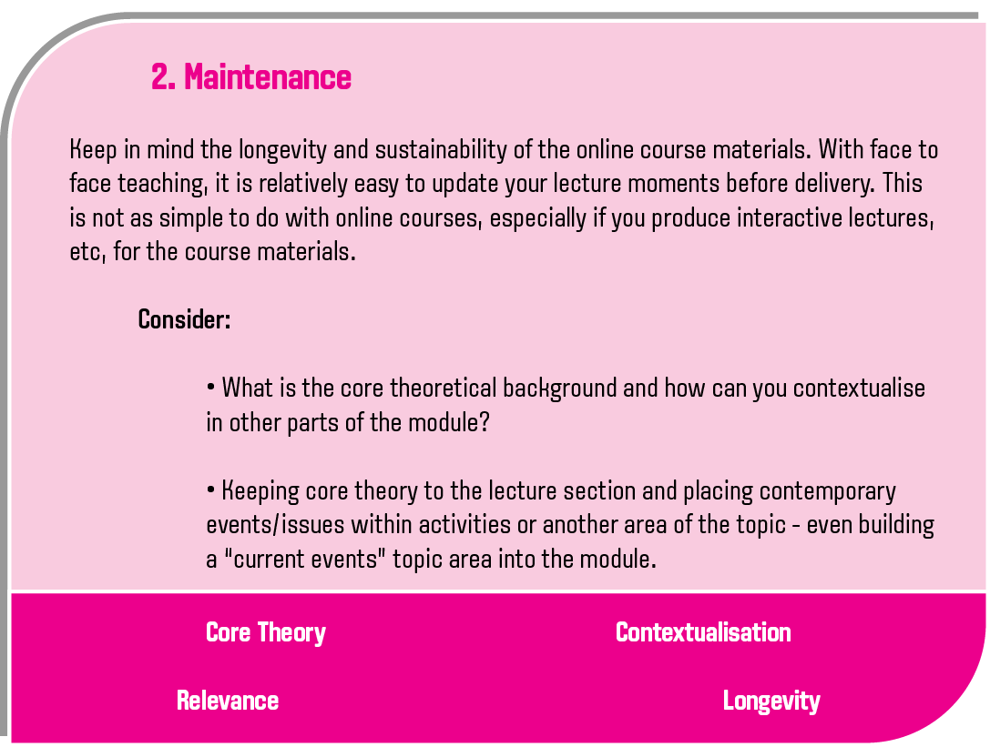 Maintenance explanation - please see downloadable document for text version
