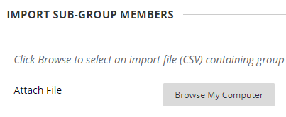 Import group members