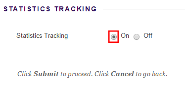 Enable tracking option