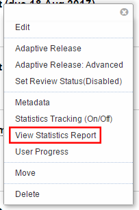 View report option