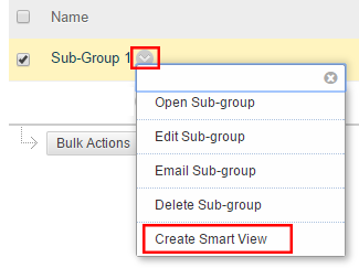 Create Smart View option