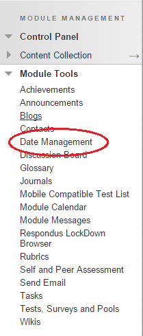 Date management menu image 1